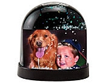 #2723BH - 2-7/8 x 2 Snow Globe - Black Horizontal