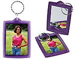 Item # 4979 - Mirror Translucent Sparkle Key Tag