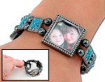 Photo Charm Bracelet - Aquamarine Stone
