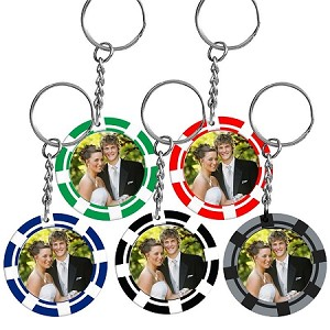 Item # 873 - Photo Poker Chip Keychains
