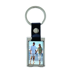 Item # 9033 - Deluxe Metal Photo Keychain