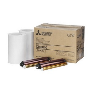 CK-3810  8x10 Ink & Paper Media Kit for Mitsubishi CP-3800DW