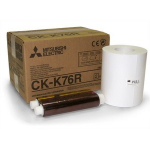 CK-K76R 6x8 Ink & Paper Media Pack for Mitsubishi CP-K60DW-S