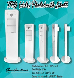 T18D – DSLR Version Photo Booth Shell Only