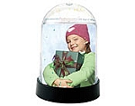 #2723C - 2 x 2-7/8 Snow Globe - Clear Vertical