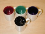 2 Tone 11oz coated ceramic mugs - Case of 36