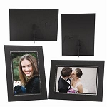 3017 - Elite Easel Textured black paper with silver foil trim