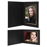 3019 - Classic Photo Mount Matte BLK paper with double-lined gold trim