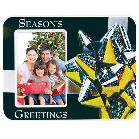 Item # 5435 -  Season's Greetings  Vinyl Puff Frame