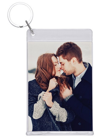 Item # 7962 - Clear Slip-in Key Tag with longer keychain
