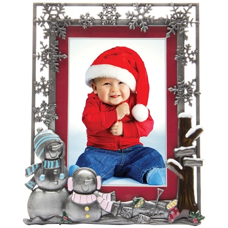 Christmas Pewter Picture Frame P8057X14