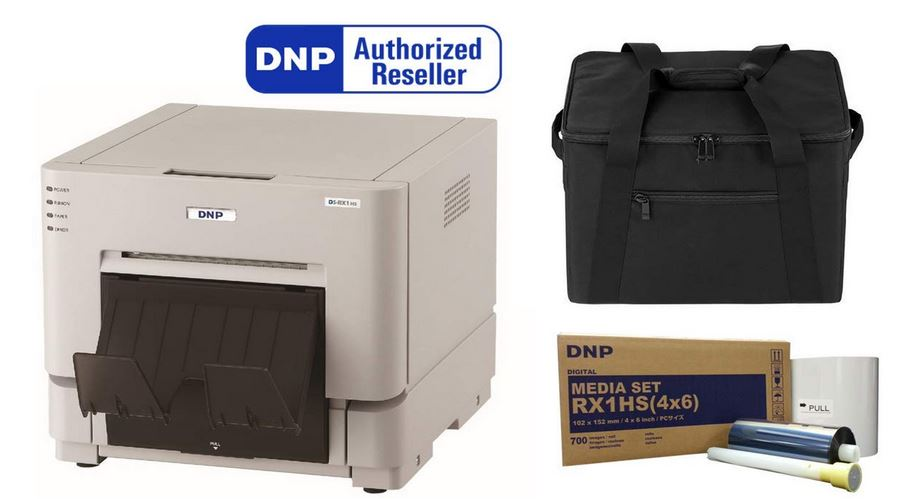 DNP DS-RX1HS Dye Sublimation Printer, Bundled with 4x6 Media (1400 Prints) and a Protective Carrying Case