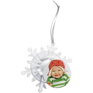 Item # 1776X - Light Up Photo Snowflake Ornament