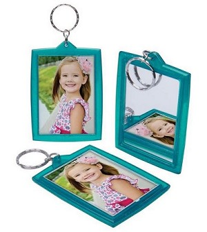 Item #4972 - Mirror Translucent Sparkle Key Tag