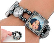 Photo Charm Bracelet - Basketball