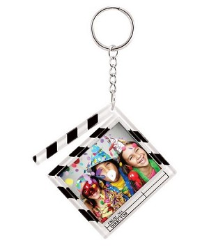 Item # 864 - Clapboard Key Chain - Snapin - 1-3/8  x 1-3/4