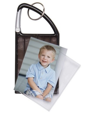 Item # 969 - Double Photo Carabiner Keychain