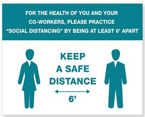PMDIST6 - Safe Distance Ready Made Sign