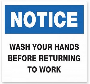 PMWORK - Wash Hands Returning to Work